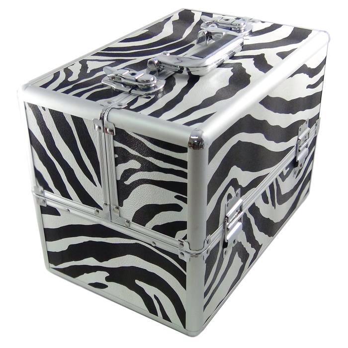 Dynasun Bs35xxl Zebra Blanc Noir Elegance Coffret Mallette Alu Valise De Beaute Voyage Maquillage Coiffure Bijoux Avec Cles Coffret Maquillage Cosmetiques Maquillage