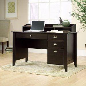 Amazon Com Sauder Shoal Creek Desk In Jamocha Wood Furniture Decor Home Redesign Brownie Dark