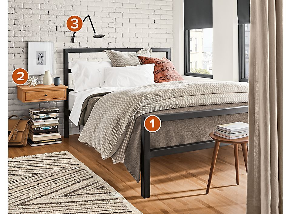 Parsons Bed Bedroom Night Stands Bed Room