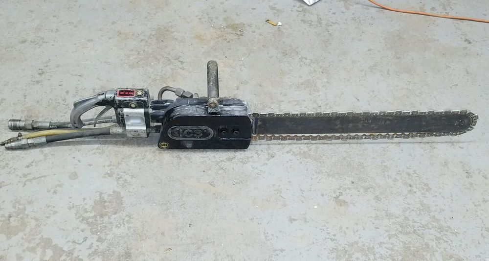 Ics 890 Hydraulic Powered Concrete Chainsaw 25 Bar W Diamond Saw