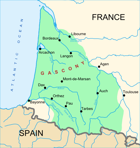 Map Of West France.Map Of Gascony South West Of France Travel Europe France