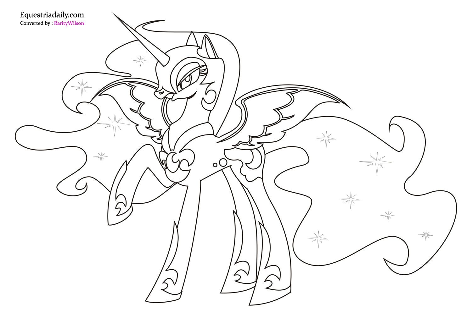 Ausmalbilder My Little Pony Equestria : Mlp Printable Coloring Pages My Little Pony Nightmare Moon