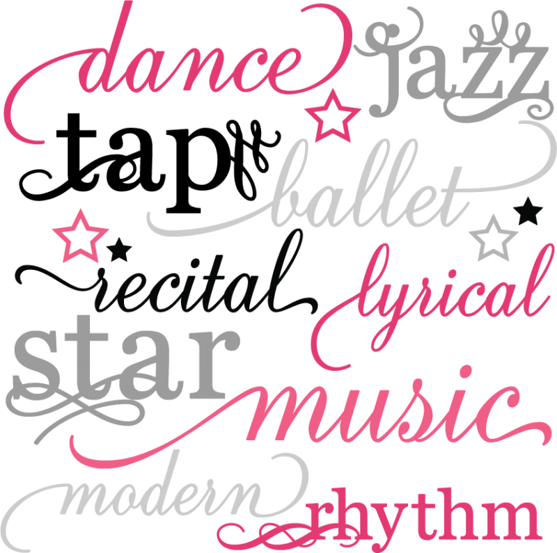 Dance Words Set Svg Scrapbook Title Dance Svg Files Dance