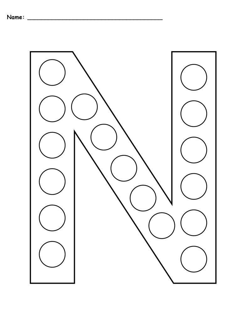 Letter N Do A Dot Printables Uppercase Lowercase Letter N Worksheet Letter A Crafts Letter Worksheets For Preschool