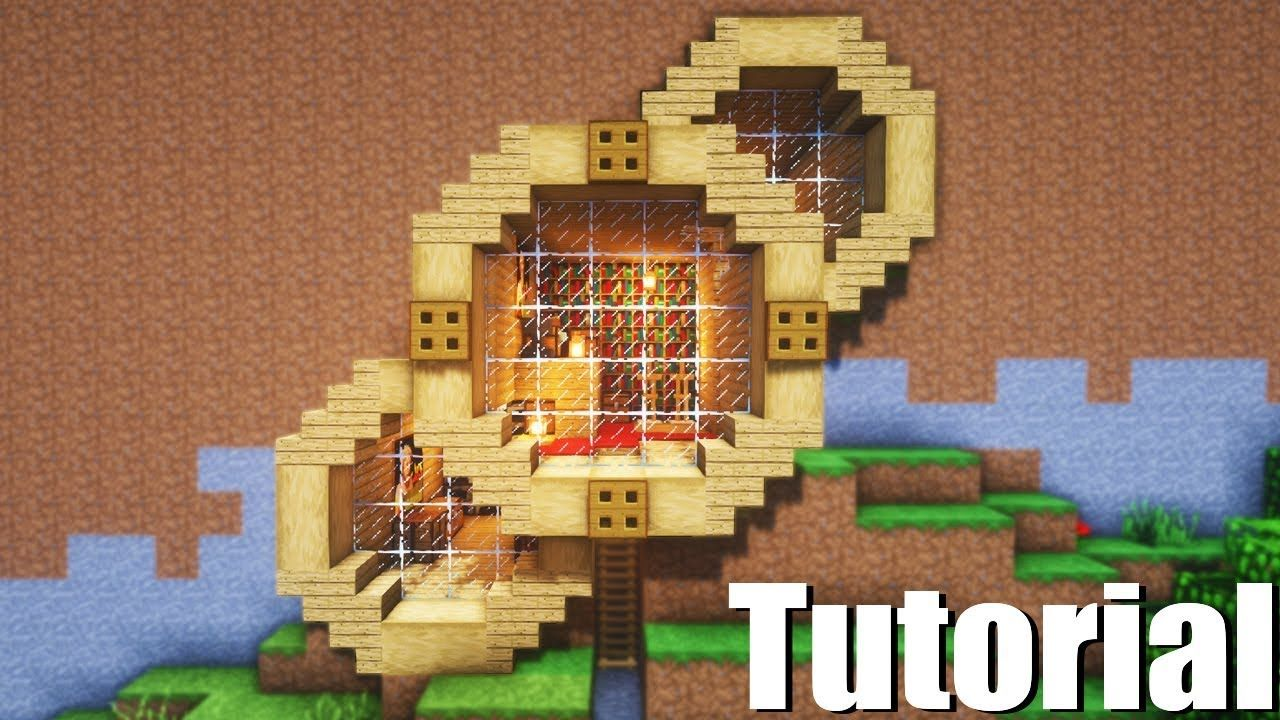Minecraft Tutorial  How To Make A Wooden Survival Mountain House