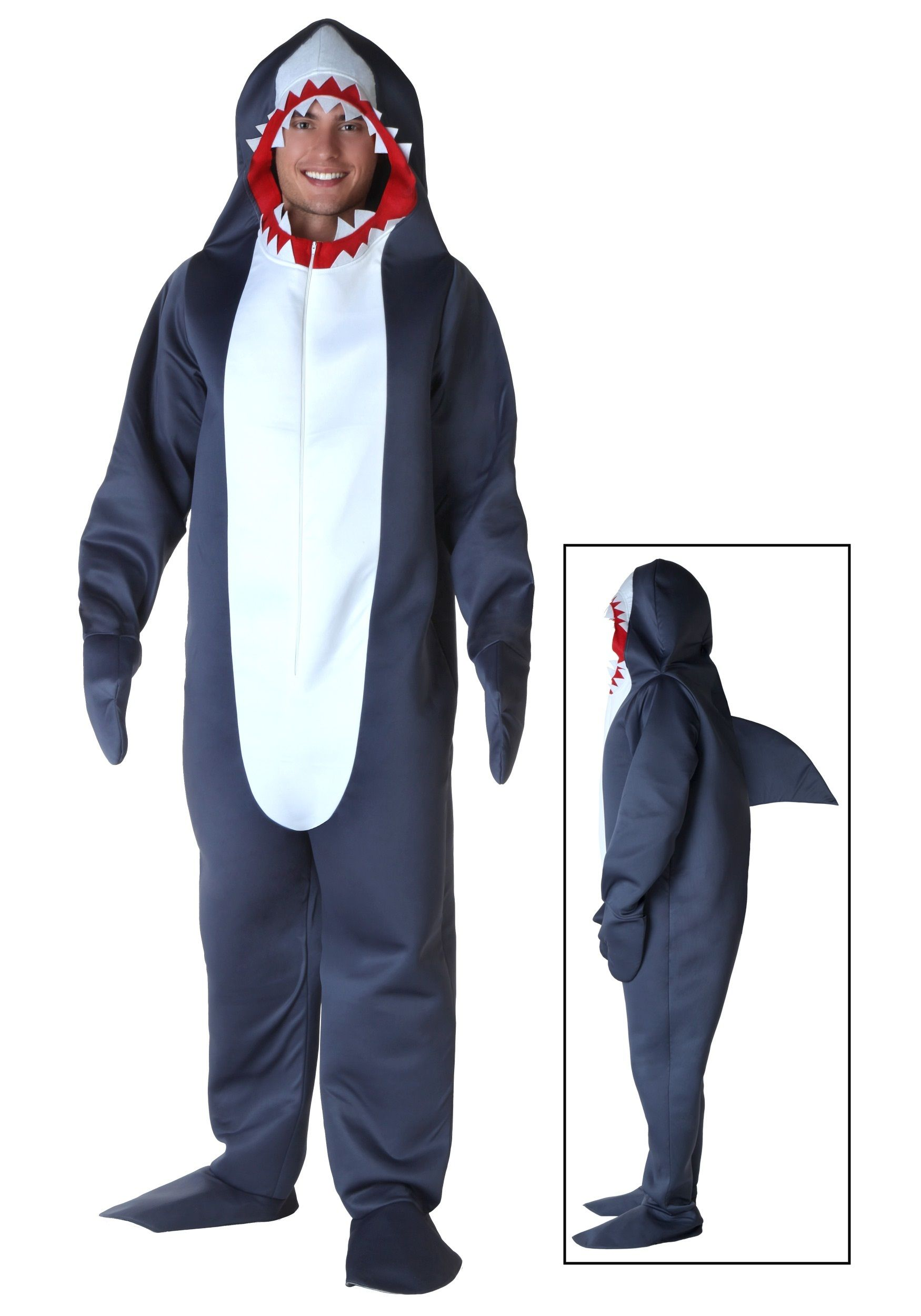 Plus Size Shark Costume Shark costumes, Shark onesie