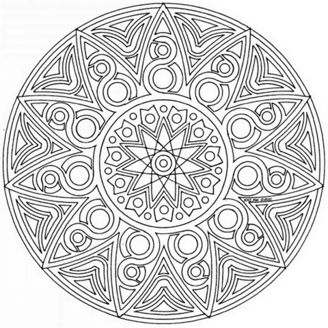 Celtic Mandala Coloring Page From Celtic Mandalas Category Select From 26202 Printable Crafts Of Cartoons Mandala Coloring Pages Celtic Mandala Coloring Pages