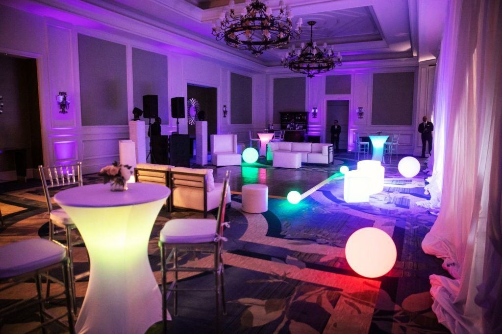 Led spandex cocktail tables orlando wedding and party