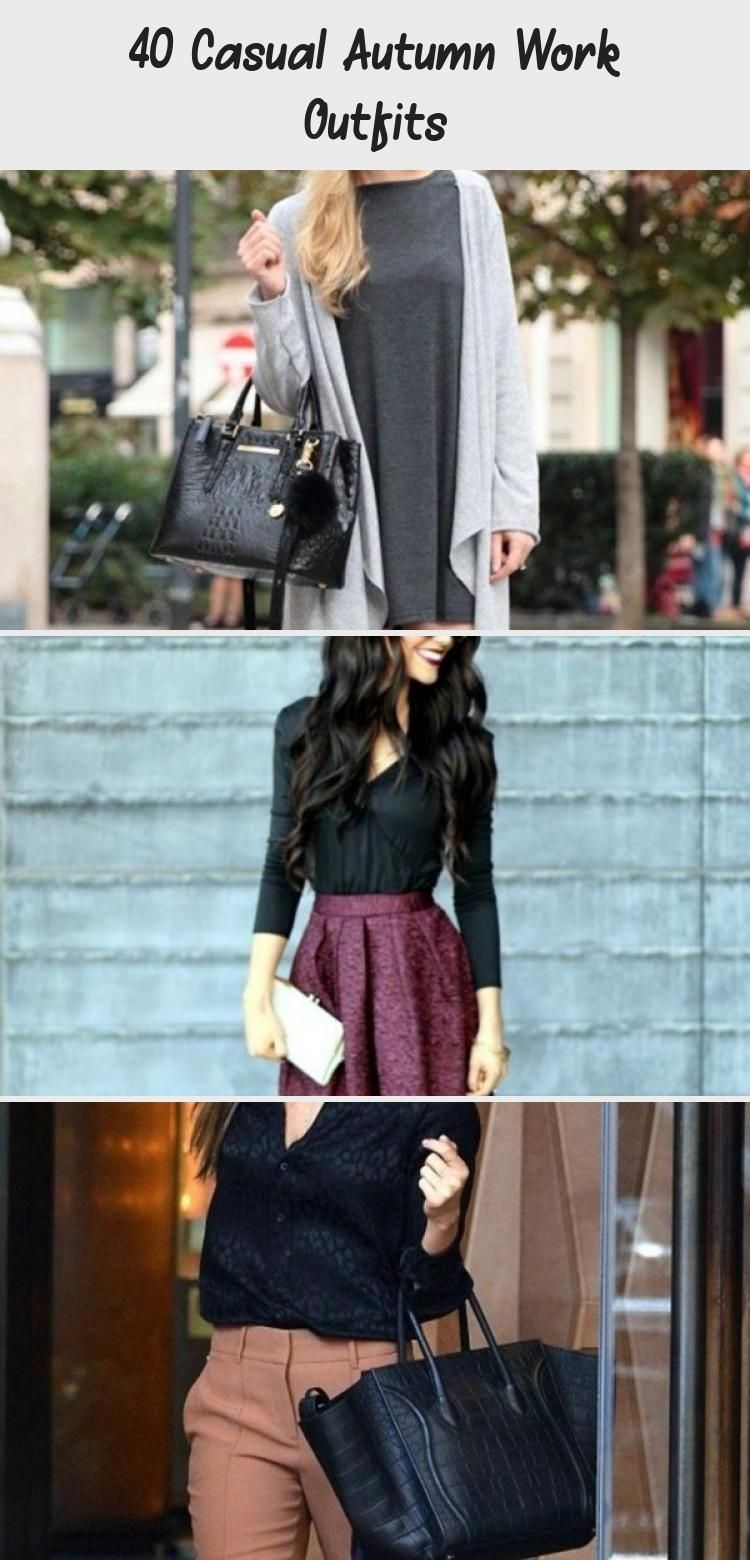 40 Casual Autumn Work Outfits - Wass Sell #falloutfitswomenScarfs #falloutfitswomenJapan #falloutfitswomenHipster #falloutfitswomenFlannel #falloutfitswomenWithHats