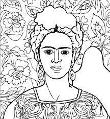 Resultado De Imagen Para Imagenes Frida Kahlo Para Colorear With