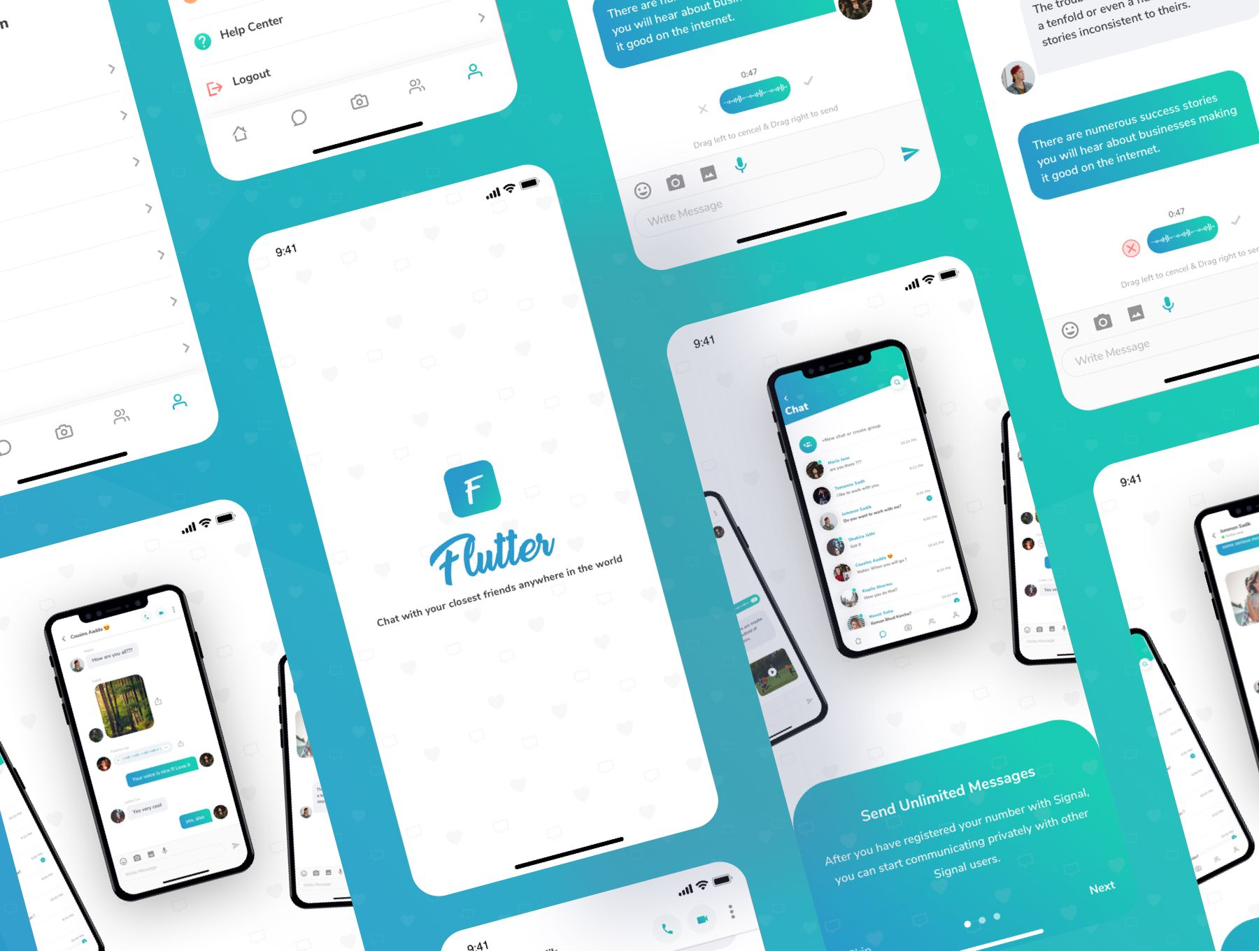 Flutter Messaging App UI Kit Chat with your closest friends anywhere