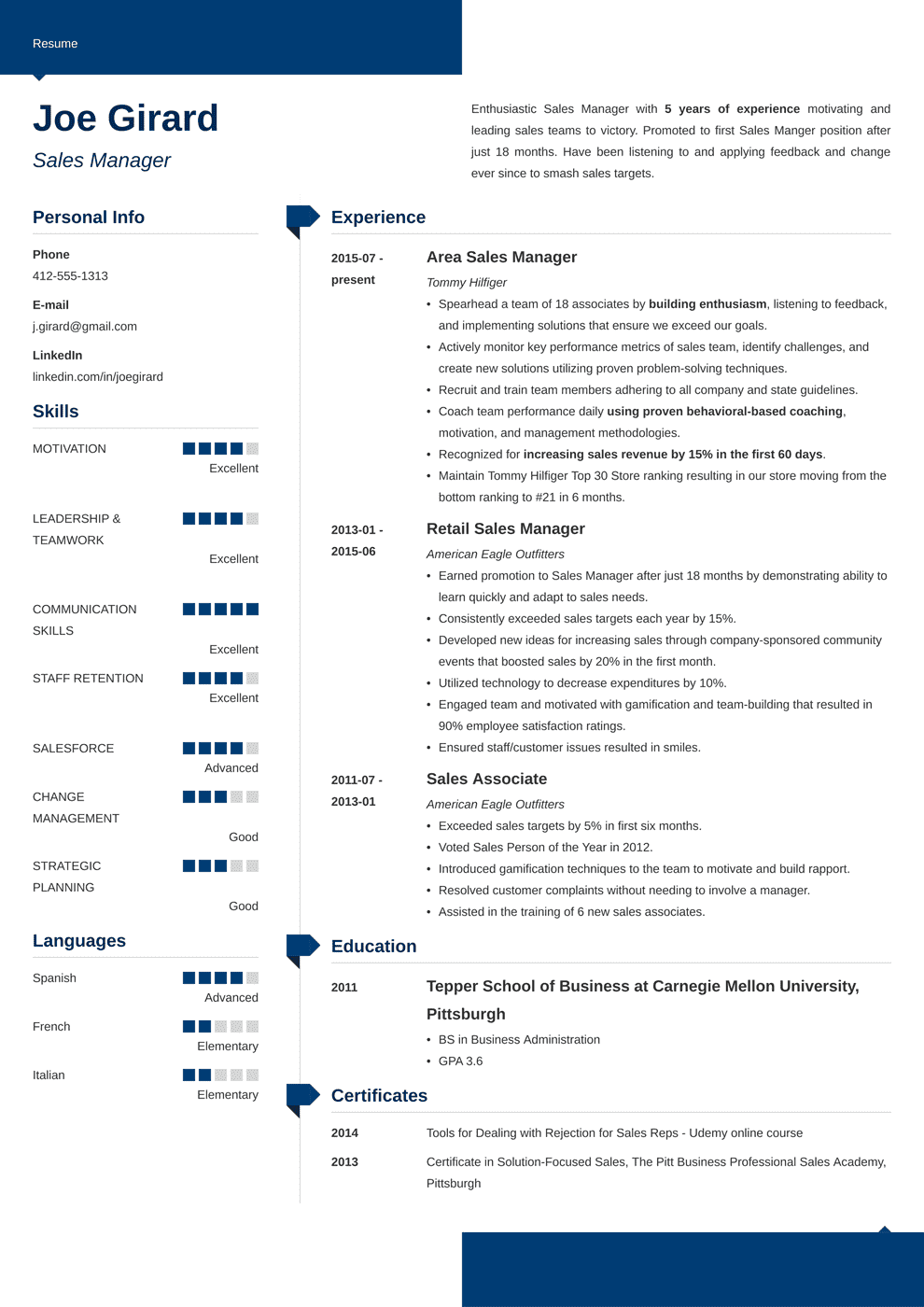 sales manager resume template modern in 2020 Resume