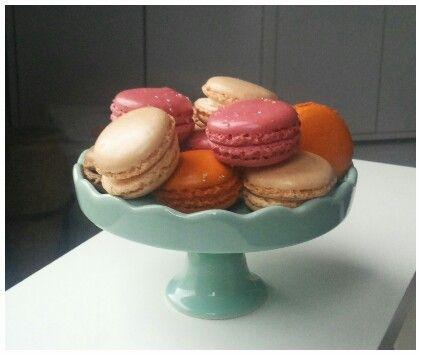 Macarons op mijn schattige bonbonniëre!
