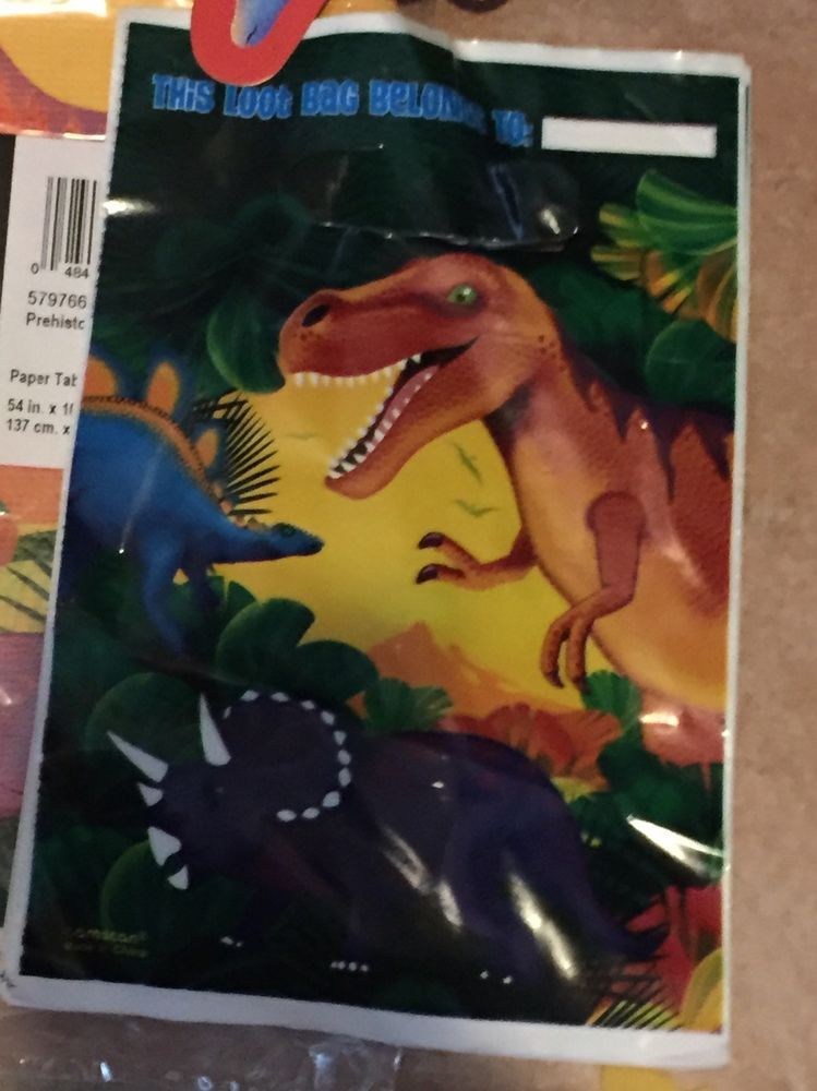 Dinosaur Prehistoric Party Supplies Lot Tablecloth Favors Napkins Decorations   | eBay