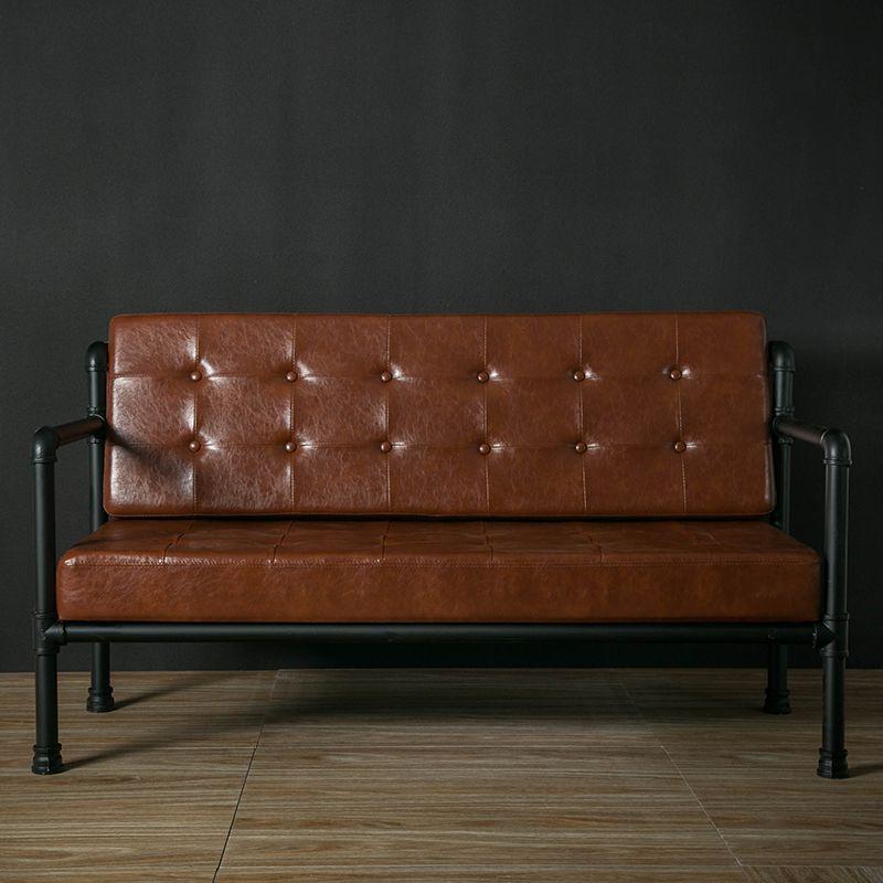 American Retro Couch Three Industrial Loft Iron Wind Worn Soft