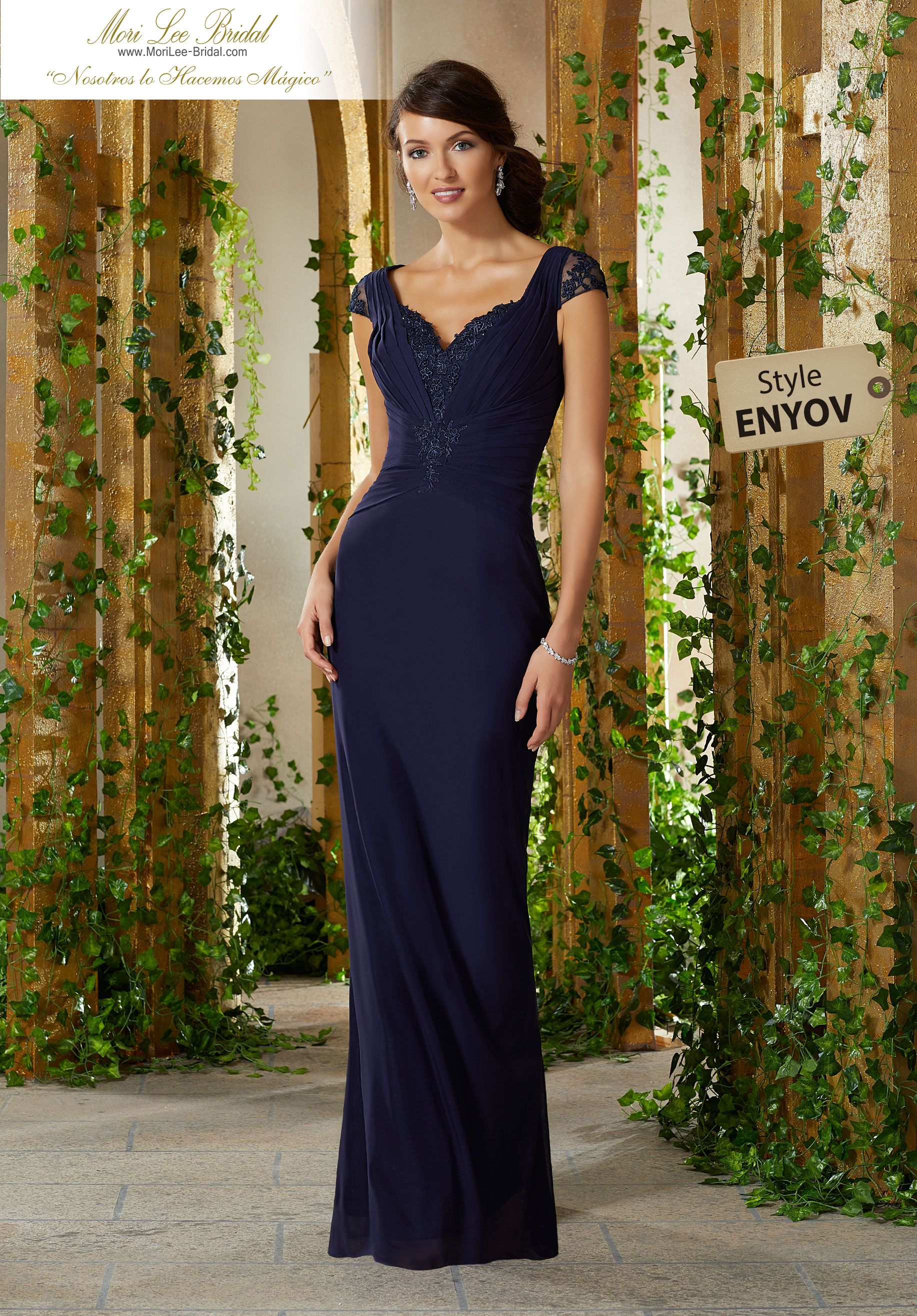 66bc8d6b3dc Stretch Mesh with Beaded Venice Lace Appliqués Form Fitting Stretch Mesh  Evening Gown Featuring a Draped