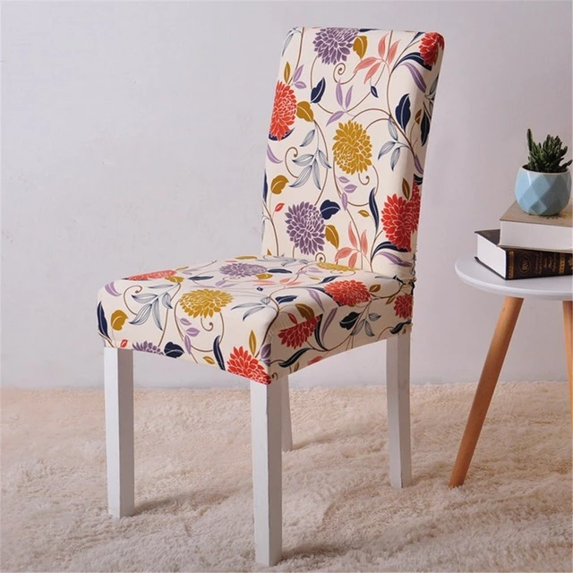 Removable Stretch Dining Chair Cover For Restaurant