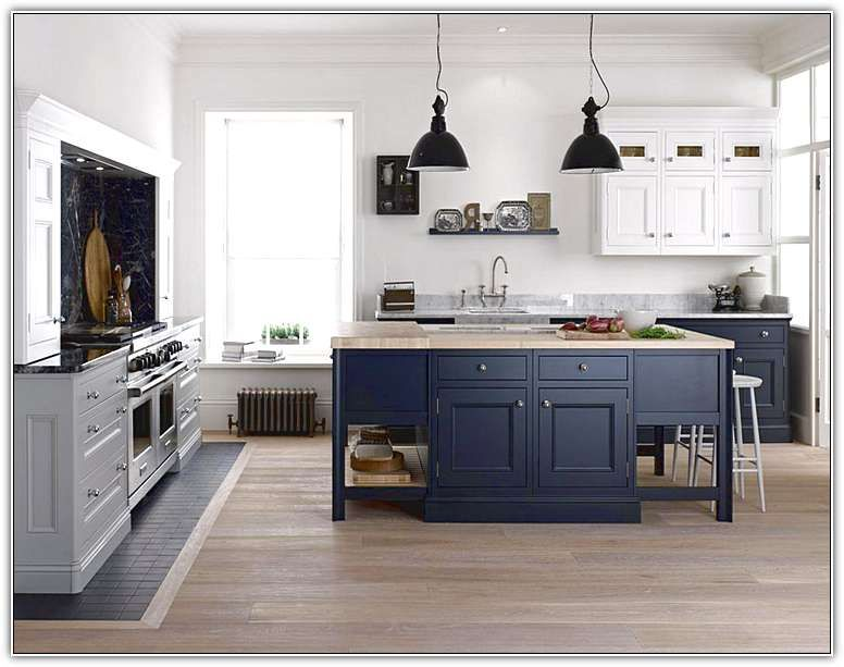 Dark Grey Kitchen Island Grey Kitchens Blue Kitchen Cabinets Blue Kitchen Island