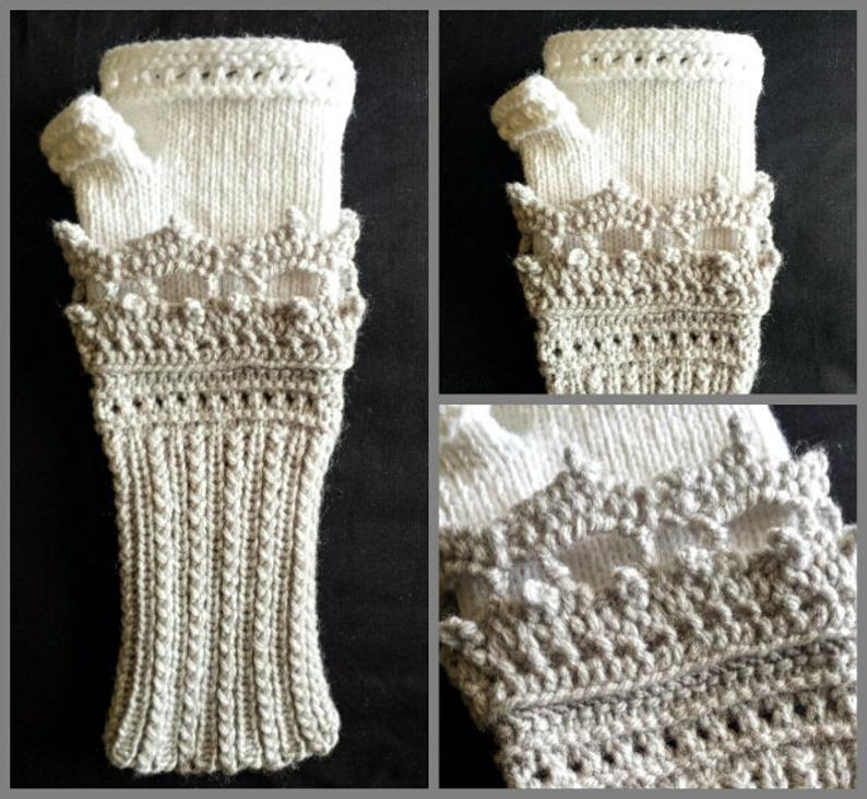 LOOM Knitting Pattern Tiara Fingerless Gloves / Fine & Small | Etsy
