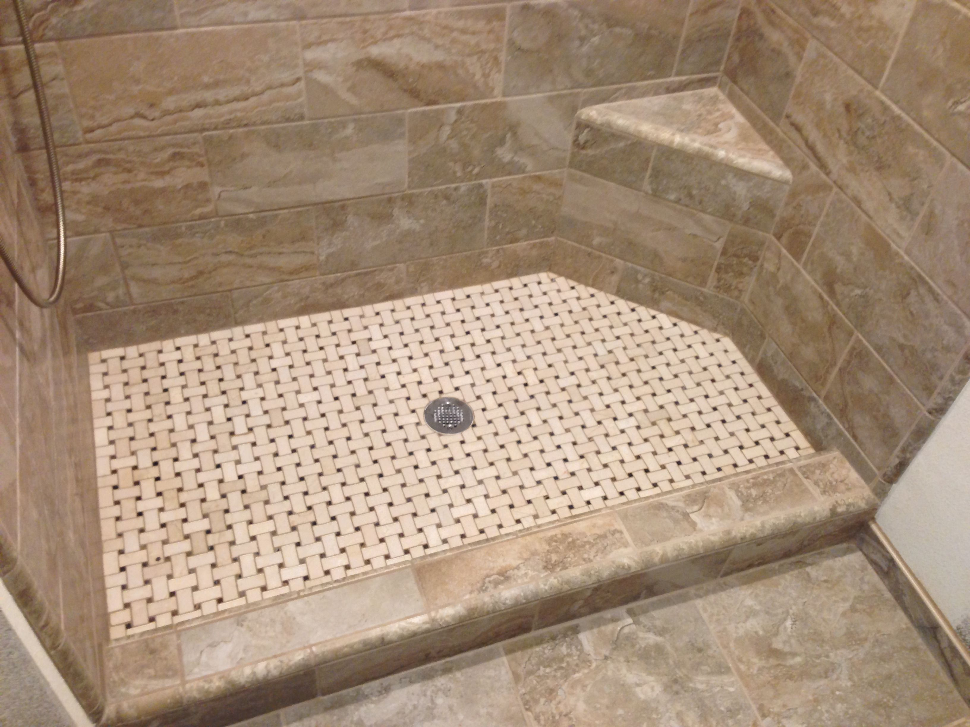Custom built walk in showers walk in shower we gave our client the ideas for the tile layout Shower tile layout