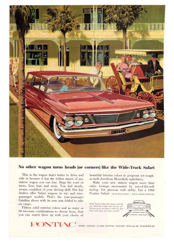 1961 Pontiac Catalina So Eager To Go Vintage Print Ad