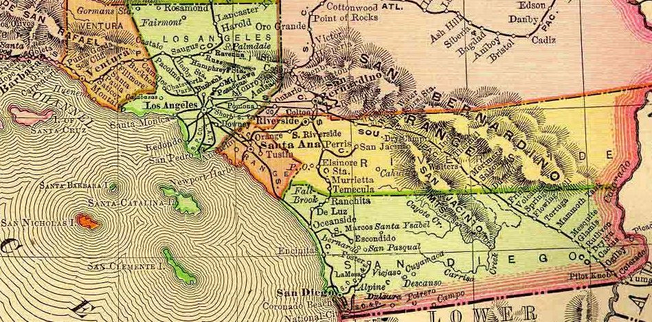 Historical topographic California map from http://library.humboldt.edu/~rls/geospatial/calmaps.htm