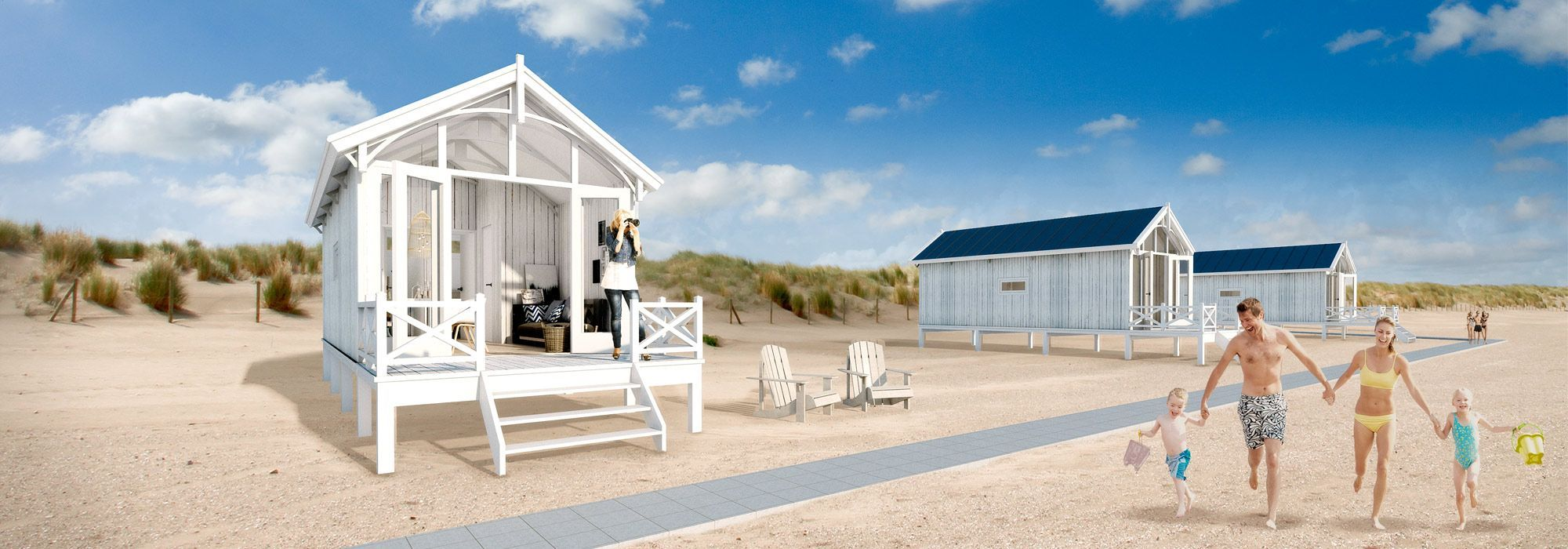 aufwachen am strand von den haag in holland jetzt k nnen sie ein strandhaus mieten urlaub. Black Bedroom Furniture Sets. Home Design Ideas