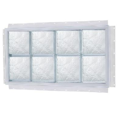 Tafco Windows 40 In X 24 In Nailup Ice Pattern Solid Glass Block Window S4024dia The Home Depot Glass Block Windows Glass Blocks Window Construction