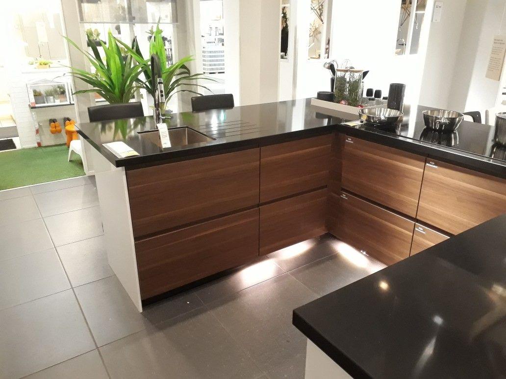 Ikea Voxtrop Kitchen With Black Stone Countertop Kitchen Design