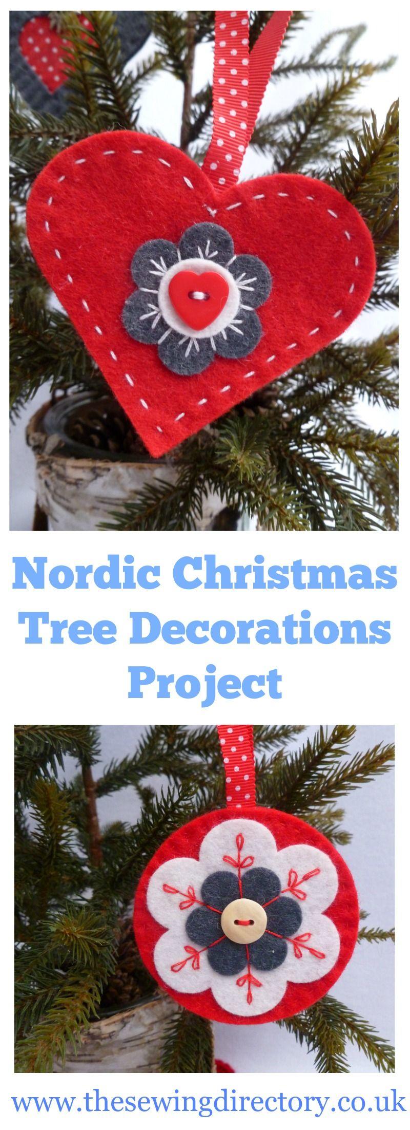 How to make Nordic felt Christmas tree decorations ...