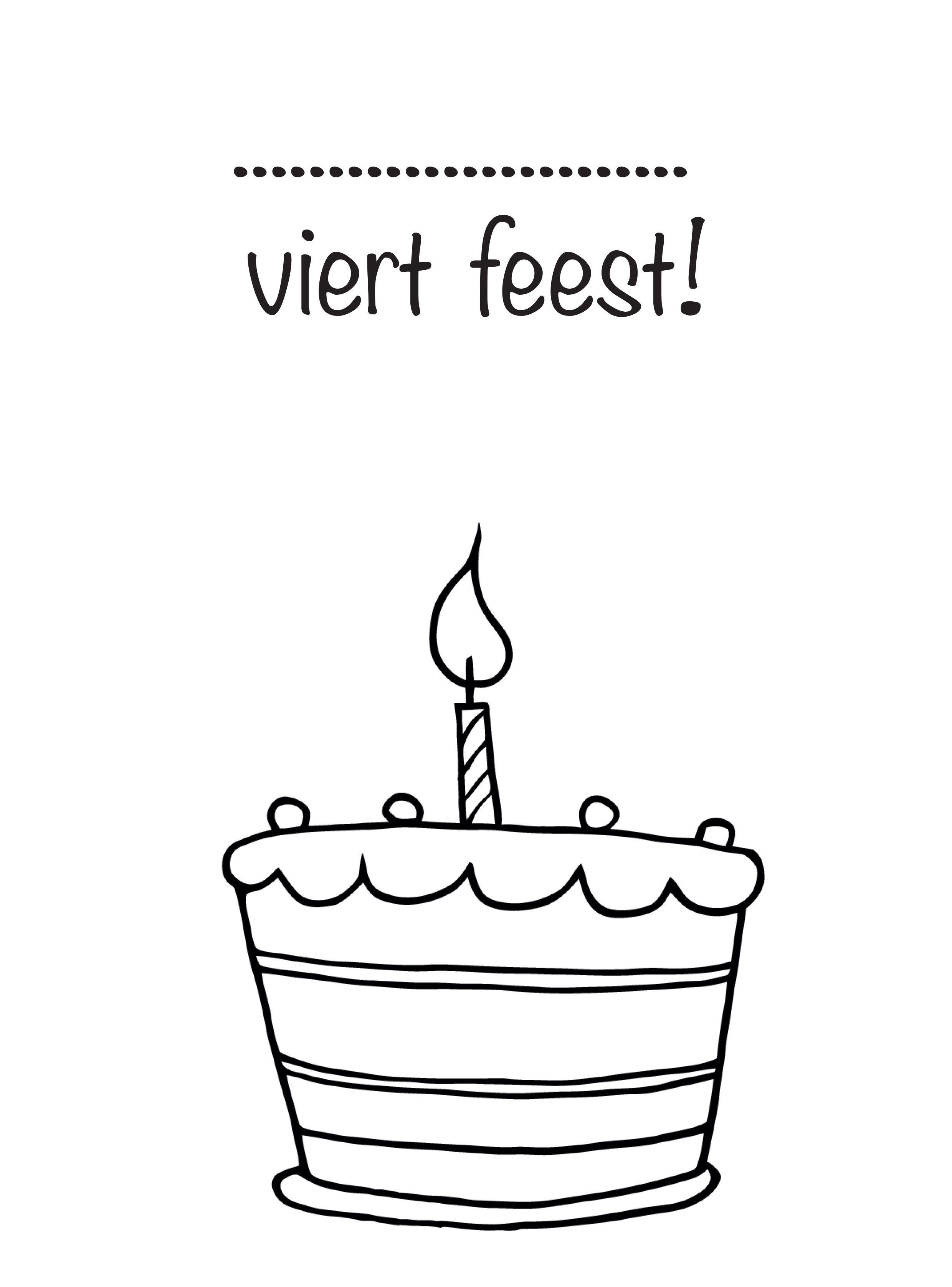 Verjaardagstaart Voor Verjaardagskalender Verjaardag Knutselen Feest