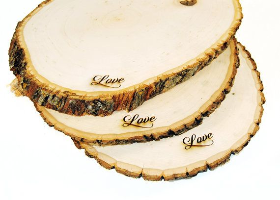 Rustic Wood Tree Slice Centerpieces Trivets Hot plates Chargers -plain - 11  sc 1 st  Pinterest & Rustic Wood Tree Slice Centerpieces Trivets Hot plates Chargers ...
