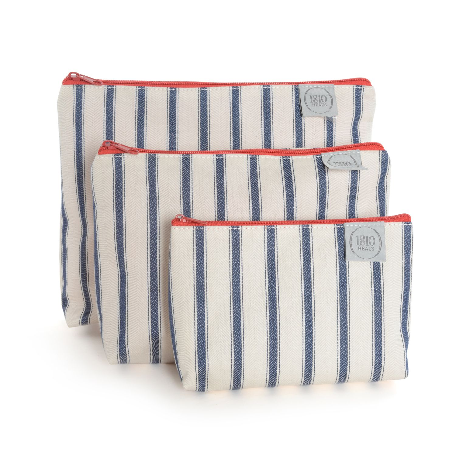 Heal\'s 1810 Small Wash Bag Henry Stripe | Wash Bags | Bathroom ...