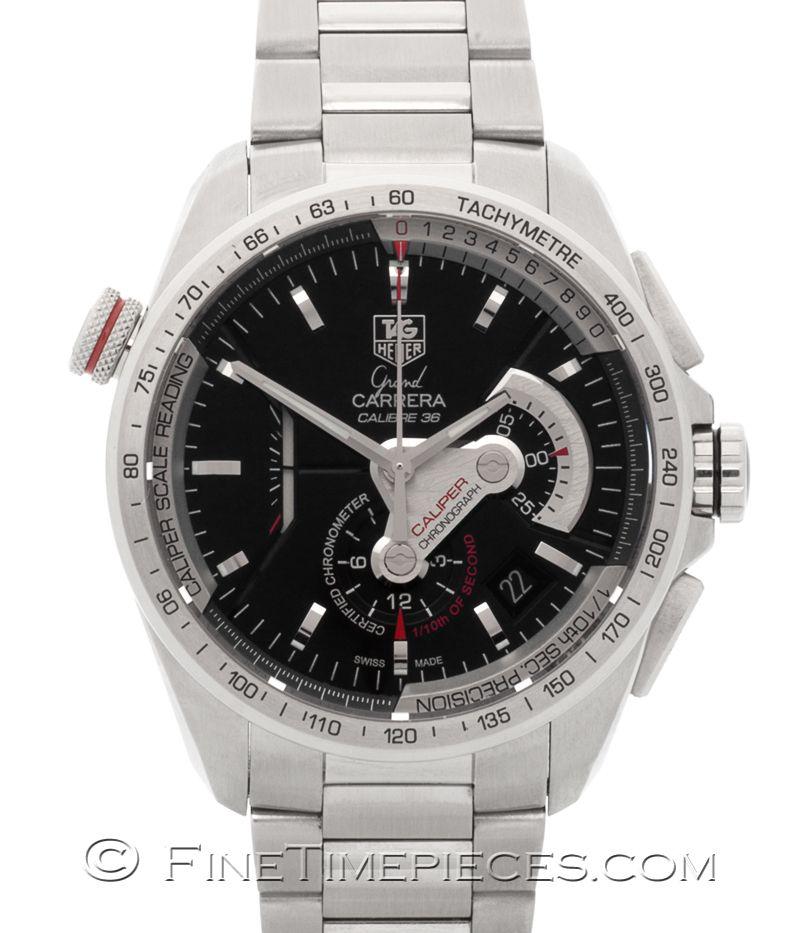 #TAG_HEUER | #Grand_Carrera Calibre 36 RS #Caliper Chronograph | Ref. CAV5115.BA0902