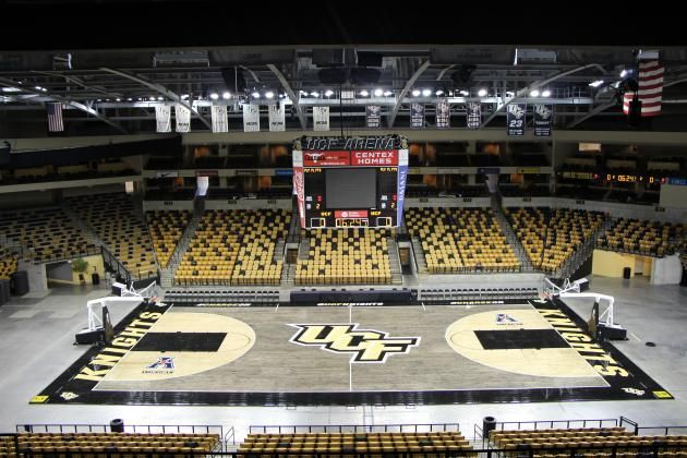 Ranking College Basketball S Coolest Court Designs Ucf Basketball College Basketball Courts College Basketball