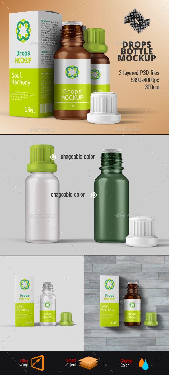 Download Herbal Drops Bottle Box Mockup Box Mockup Bottle Mockup Bottle Box