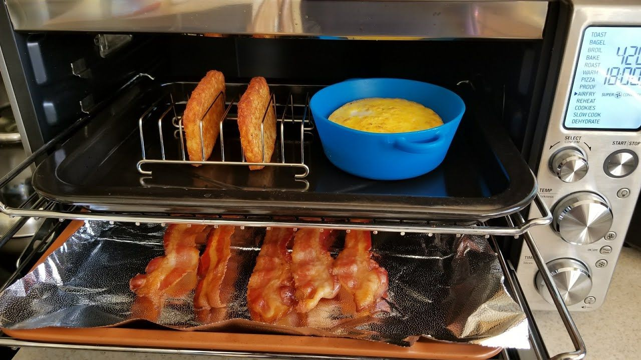 Air Fryer Breville Smart Oven Bacon Egg Amp Cheese Breakfast