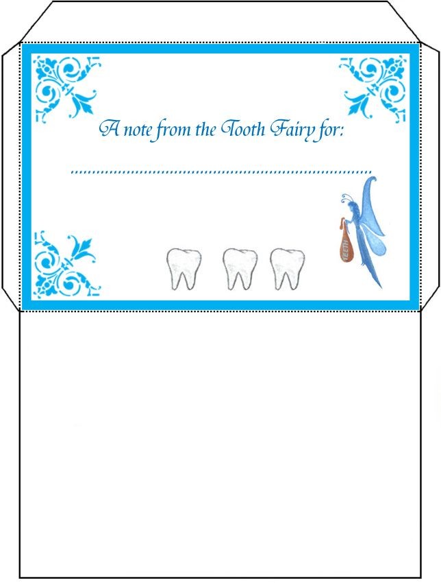 Free Tooth Fairy Letters  Tooth Fairy Envelope  For Mom