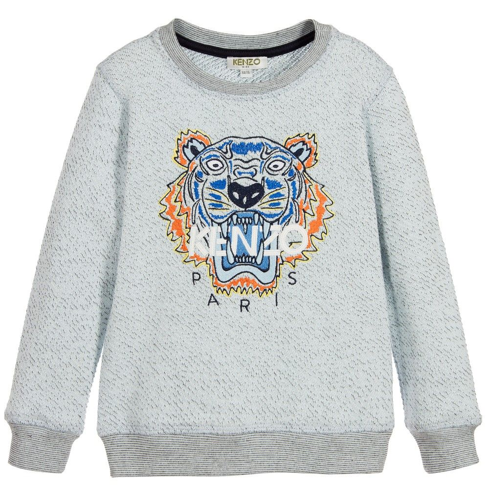 06f7b00f Boys Pale Blue Iconic Tiger Sweatshirt   casual boys   Kenzo ...