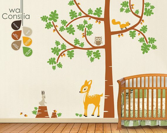 Baby Nursery Tree Wall Decals  Tree Decal  Tree by WallConsilia