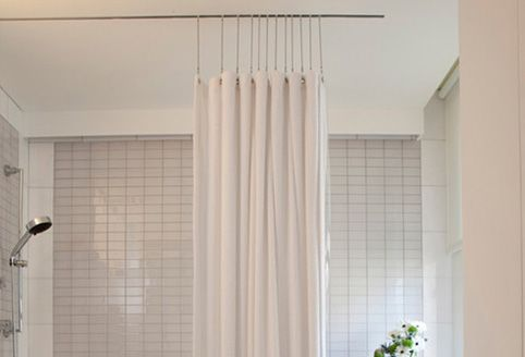 Ceilingshowerrod Com Shower Curtain Track Shower Curtain Decor