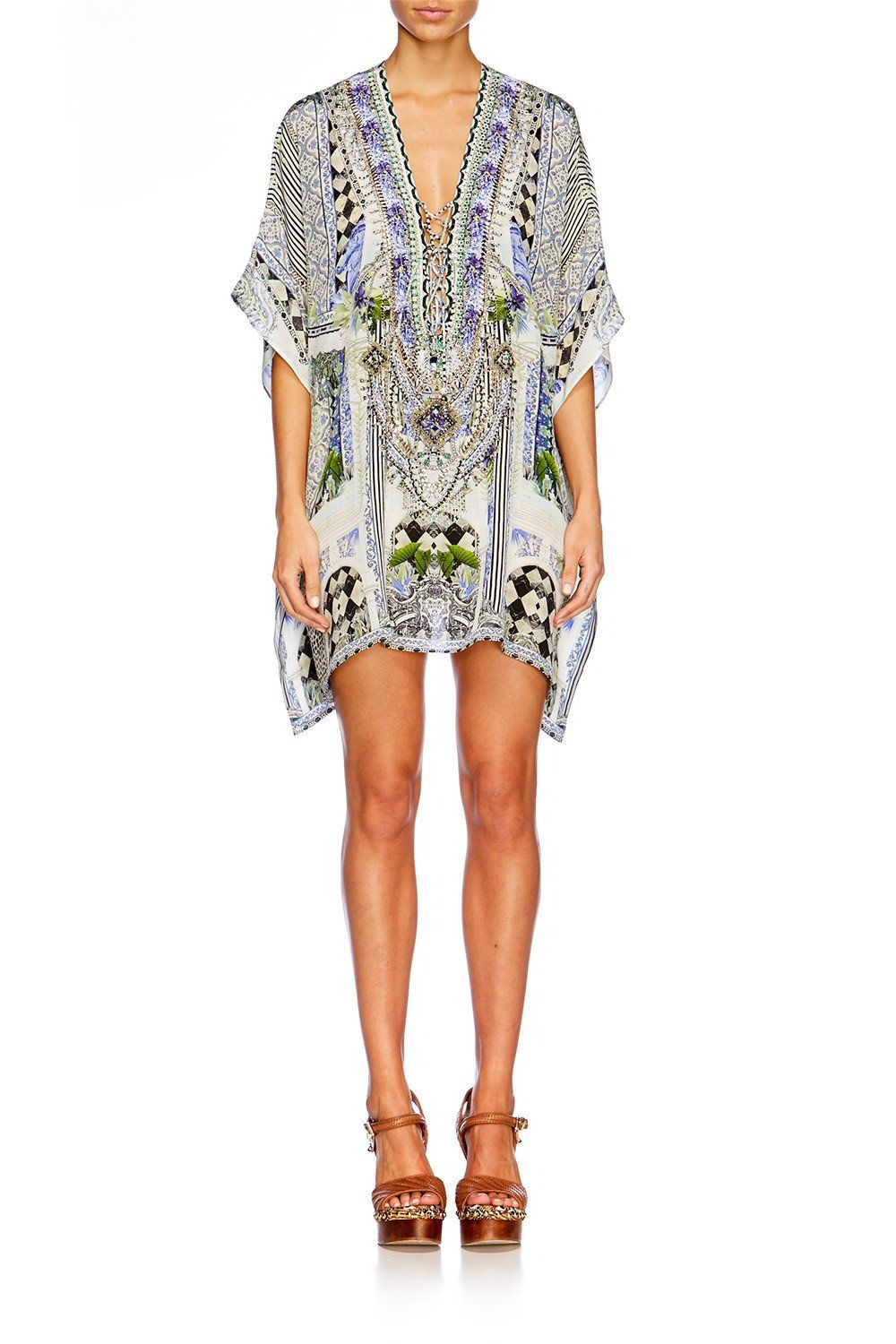 Camilla - The Sweet Escape Short Lace Up Kaftan