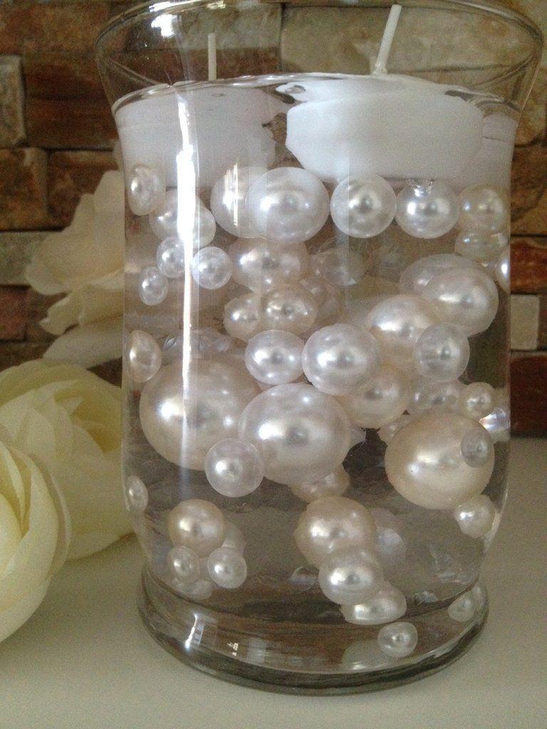 Vase filler pearls for floating pearl centerpiece ivorywhite vase filler pearls for floating pearl centerpiece ivorywhite pearls 80 jumbo mix reviewsmspy