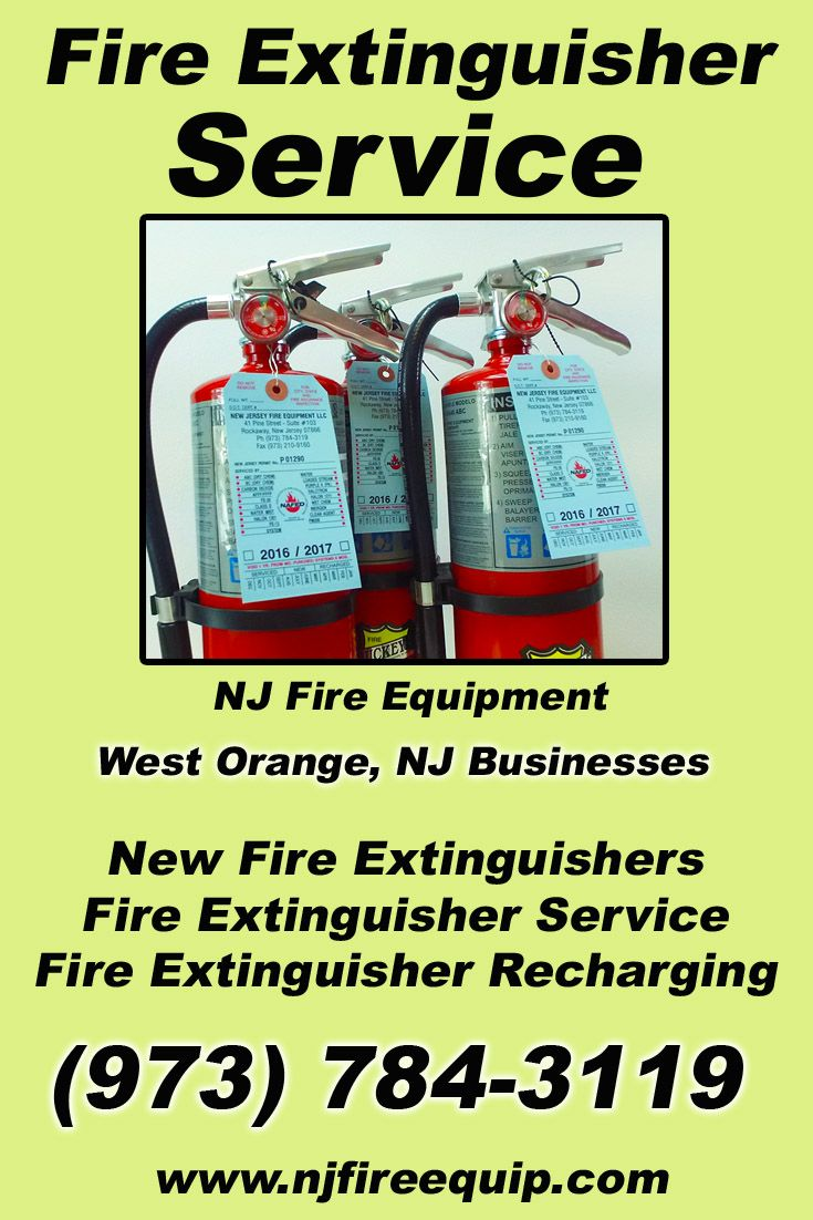 Fire Extinguisher Service West Orange, NJ (973) 7843119