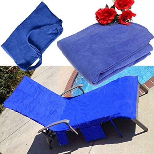 Patio Furniture Covers   KING DO WAY Microfiber Lounge Chair Beach Towel  With Pockets Holidays Sunbathing