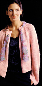 Bergere de France Womens Knitting Patterns Edge to Edge Cardigan Knitting Pattern