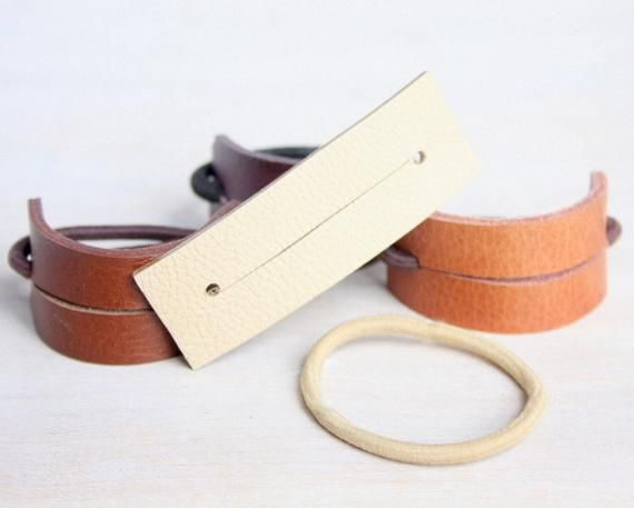 Leather Hair Band, Ponytail Wrap, Ponytail Holder, Hair Tie, Leather Wrap, Women Gift, cosplay hair, YesterdaysNovember, Hair Accessories #hairbands