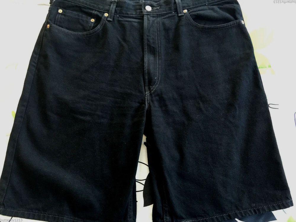 black levi shorts mens