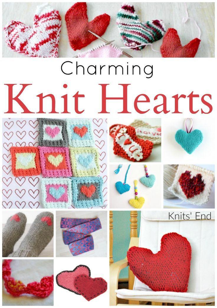 Charming Knitted Heart Patterns For Valentines Day Heart Patterns