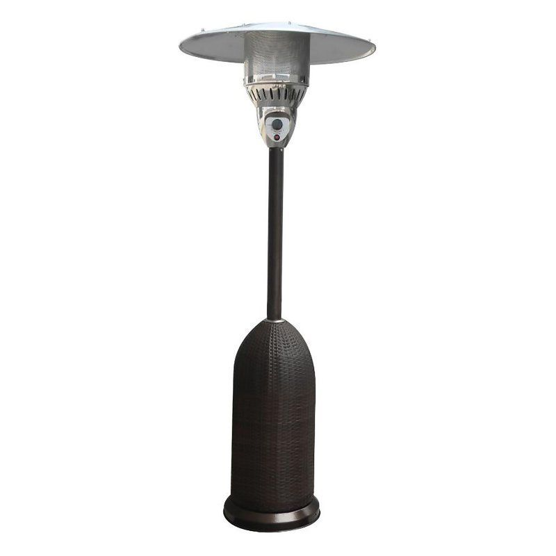Hanover Outdoor 7 ft. Round Wicker Propane Patio Heater - HAN012BLKW